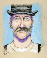 Man with a Moustache Part I by M-Everham