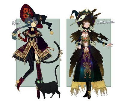 SOLD: HALLOWEEN FAMILIAR + WITCH ADOPT SALE! by minnoux