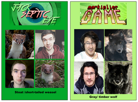 animal look alike  - jacksepticeye and markiplier by reddog909fallout