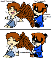 wing rubbing by Winged-Italians