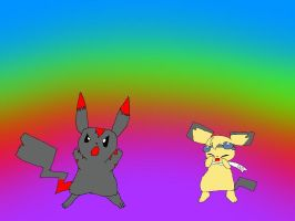 me and Pichu90 by PokeFreak202