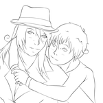 OC: Mother and Son -lineart- by Sabbaru