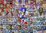 Sonic with his Games by sonictoast
