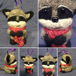 Needle-Felted Raccoon (Commission) by CoffeeRunner