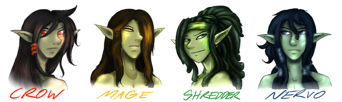 CDS - Merah - Four Brothers REDO Designs - Faces by DarkenedSparrow