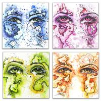 Eye Color Hand Painted Multiples by collinsalazar