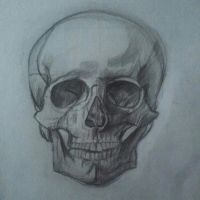 Skull Drawing by THEWEIRDWITCH