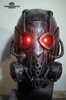 The Corruptor Cyberpunk mask helmet by TwoHornsUnited