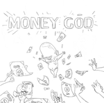 God baby ,that give money sketch by drartinrainbow