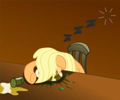 Sleepy Applejack by Cgeta