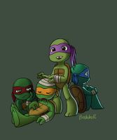 Toddler Mutant Ninja Turtles by BrushBell