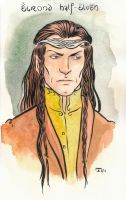 Elrond sketch by Sigune