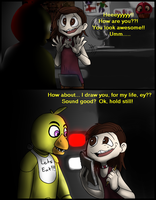 A Gift for Chica - FNaF Comic - Part 2 by AccursedAsche