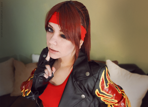 Claire Redfield cosplay RE2 wink by VickyxRedfield