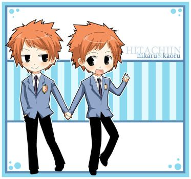 Ouran: Twin Chibis by Michiko-GO