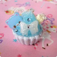 Blue Kitty Necklace by CatNapCaps