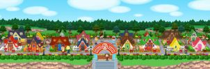 Animal Crossing New Leaf - StreetPass Village by Kharthoffen