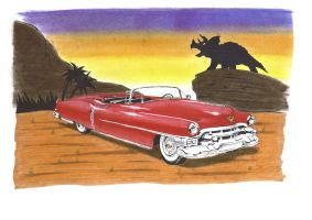 Cadillacs and Dinosaurs by pterodactilo