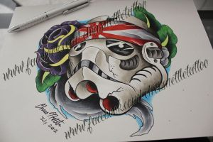Kamikaze Stormtrooper by ChrisNettleTattoo