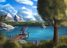 Lonely lake by Sylar113