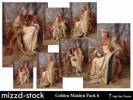 Golden Maiden Pack 6 by mizzd-stock
