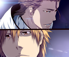 Aizen and Ichigo - Collab by TempestDH