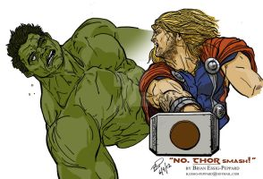 The Incredible Hulk vs The Mighty Thor by Essig-Peppard