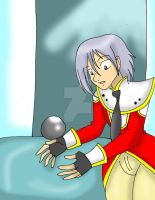 Leon getting the Mana Orb by CathyMouse2010