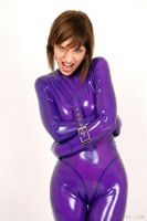 Straitjacket Catsuit PurpleDay by ilovefrenchgirls