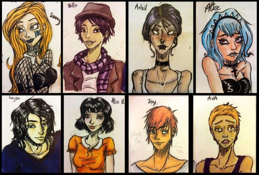 ISM / 8 Students by DECAYsToonstruck