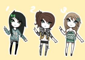 Free Giveaway Adopts :girls: CLOSED by Voodoo-Elf