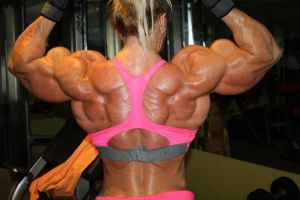 Muscled Female Back by Turbo99