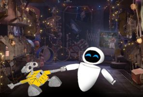 Wall-E and Eve Dancing by A01087379