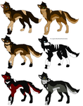 Adoptables by MonsoonWolf