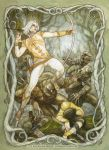 Battle Under the Trees, Elves and Orcs by BohemianWeasel