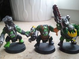some of my old orks 4 by skincoffin
