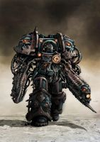 Chaos space Marine Oblitterator -bulked out- by Jutami