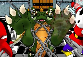 Koopa Cant Take It! by Foot-paws