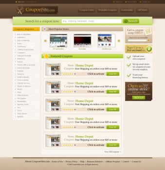 Coupon Site by DOVeDesigns