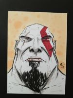 Kratos sketch card by MikimusPrime