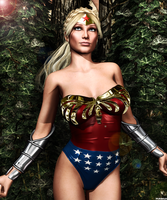 Ultra Woman  Natur Und Kunst  By Furbs3d by ladytania