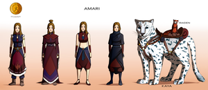 Commission: Amari - Character Concept Design by Marina-Shads