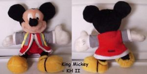 King Mickey Plushie by snowtigra