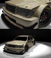 w201 Mercedes Race car camotest by ollite20