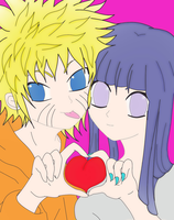 naruhina colored by SakamakiJustine