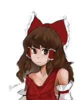 silly reimu sketch 2 -edit- by Dedalocious