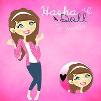 Doll ''Hasha Doll Pink'' By: Juula3014. by Juula3014