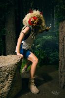 Princess Mononoke: On the Prowl by xYaminogamex
