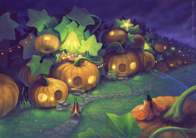 Pumpkin town by Linum7