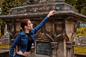 Lara Croft jeans cosplay - health pills by TanyaCroft